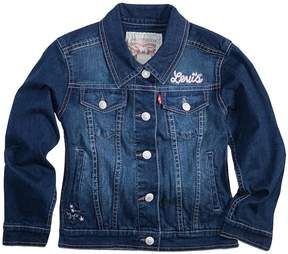 Levi's Toddler Girls Distressed Denim Jacket