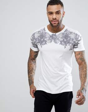 New Look T-Shirt With Floral Print In White
