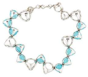 Di Modolo Icona Synthetic Blue Quartz Link Bracelet