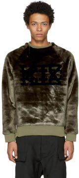 Kokon To Zai Brown Faux-Fur Logo Sweatshirt