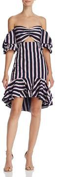 WAYF Korbin Striped Off-the-Shoulder Dress - 100% Exclusive