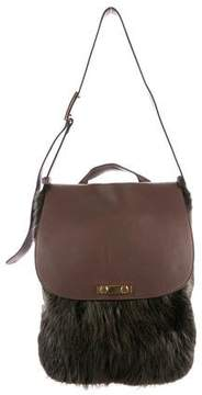 Marni Large Leather-Trimmed Satchel Bag