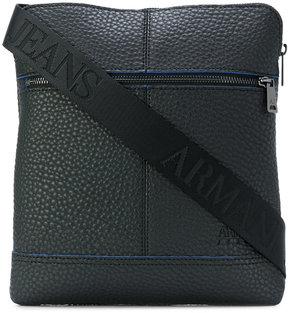 Armani Jeans textured messenger bag