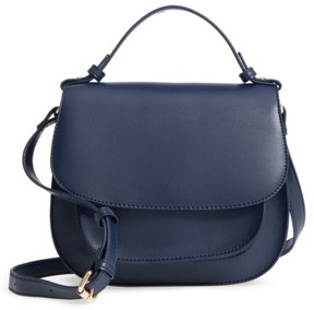 Sole Society Faux Leather Crossbody Bag - Blue