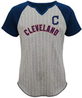 Majestic Girls 7-16 Cleveland Indians From the Stretch Tee