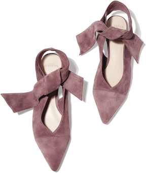 Alexandre Birman Cariny Flat Shoe in Dusty Rose, Size IT 36