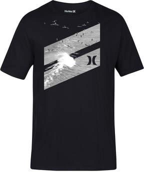 Hurley Men's Icon Slash Lineup Premium Graphic-Print T-Shirt