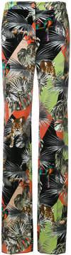 Blugirl jungle print flare trousers