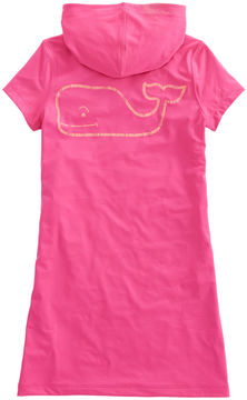 Vineyard Vines Girls Short-Sleeve Whale Performance Hoodie Dress