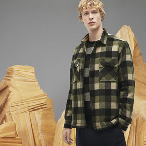 Lacoste Men's Fashion Show Check Flannel Shirt With Chest Pockets