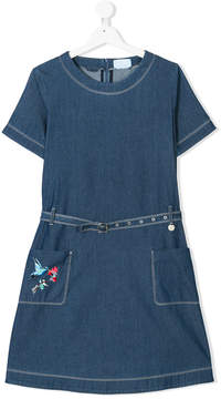 Lanvin Enfant TEEN belted denim dress