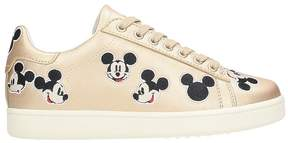 Moa Multi Mickey Gold Leather Sneakers