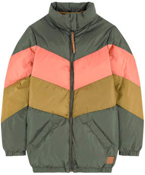 Scotch & Soda Striped padded coat
