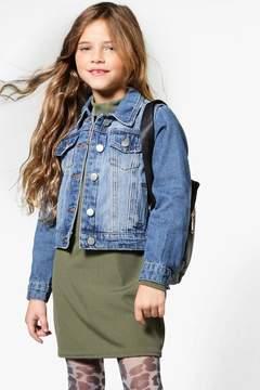 boohoo Girls Embroidered Denim Jacket
