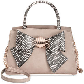 Betsey Johnson Removable Bow Medium Satchel