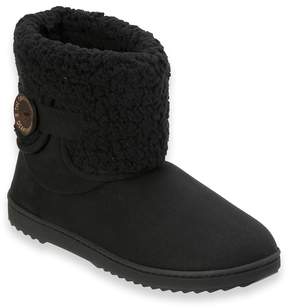 Dearfoams Women's Notched Sherpa Cuff Boot