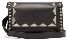 Isabel Marant Miskai Embellished Leather Cross Body Bag - Womens - Black