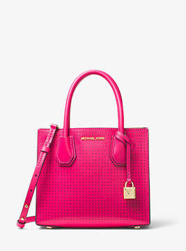 Michael Kors Mercer Perforated Leather Crossbody - PINK - STYLE