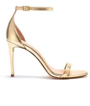 Rachel Zoe | Ema Metallic Leather Heeled Sandals | 8 us | Silver