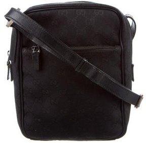 Gucci GG Canvas Crossbody Bag - BLACK - STYLE