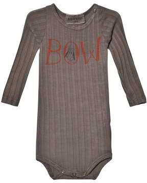 Bobo Choses Grey Bow and Stern Long Sleeve Body