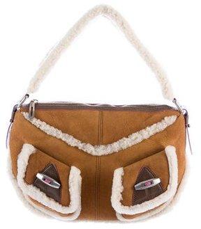 Marc Jacobs Shearling Shoulder Bag - BROWN - STYLE