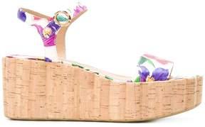 Salvatore Ferragamo floral printed sandals