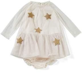 Jessica Simpson Baby Girls 12-24 Months Star-Print Netting Dress