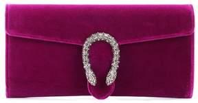 Gucci Dionysus crystal-embellished velvet clutch - PINK - STYLE