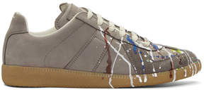 Maison Margiela Grey Paint Splatter Replica Sneakers