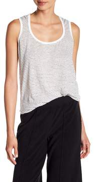 ATM Anthony Thomas Melillo Linen Striped Tank