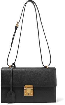 Mark Cross Downtown Textured-leather Shoulder Bag - Black