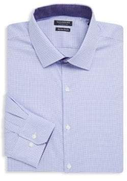 Tailorbyrd Destrehan Trim-Fit Printed Cotton Dress Shirt