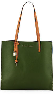 Marc Jacobs The Grind Pebbled Leather Shopper Tote Bag - NATURAL MULTI - STYLE