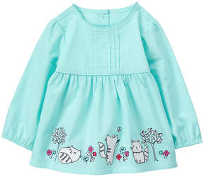 Gymboree Blue Cat Appliqué A-Line Top - Infant