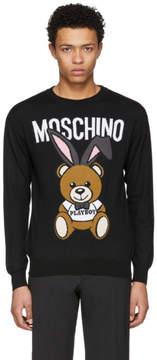 Moschino Black Playboy Teddy Bear Sweater