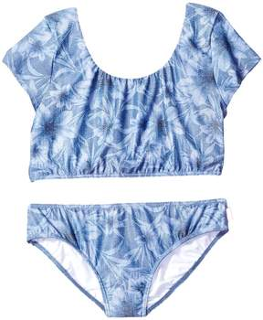 Seafolly Tropical Vacation Tie Back Tankini Top (Little Kids/Big Kids)