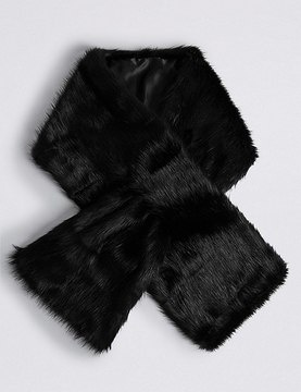 Marks and Spencer Slot Through Fur Scarf
