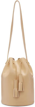 Building Block Beige Tassel Bucket Bag