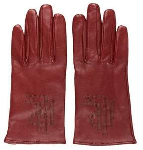 Lauren Ralph Lauren Leather Perforated Gloves