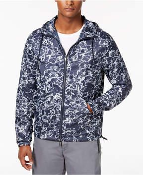 DKNY Men's Printed Logo Windbreaker Jacket