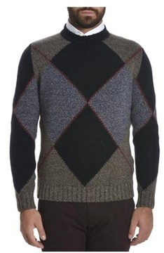 H953 Men's Blue/grey Wool Sweater.