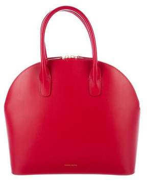Mansur Gavriel Leather Top Handle Rounded Bag