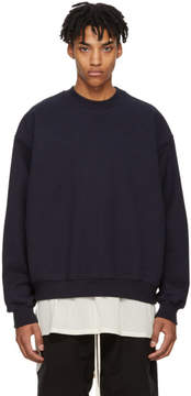 Fear Of God Navy Heavy Terry Sweatshirt