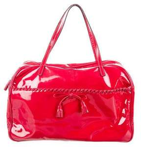 Anya Hindmarch Patent Leather Bow-Embellished Tote