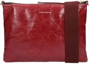 Isabel Marant Burgundy Leather Clutch Bag