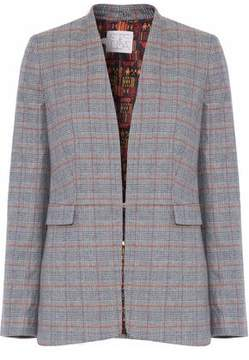 Stella Jean Checked Brushed Wool-Blend Blazer