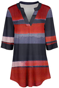 Azalea Red & Blue Stripe V-Neck Tunic - Women & Plus