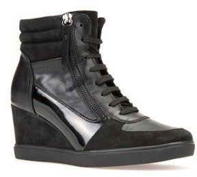 Geox Women's Eleni Lace-Up Wedge Bootie