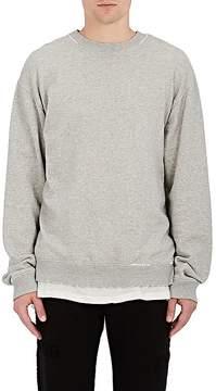 RtA Men's Wrath Distressed Cotton Terry Sweatshirt
